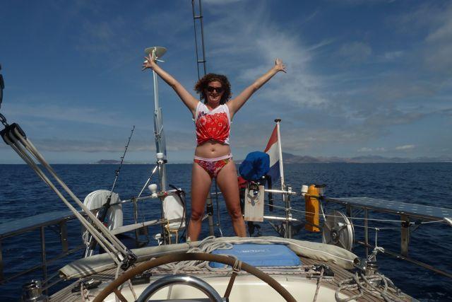 Weg van Lanzarote, op weg naar Fuerteventura, nieuwe avonturen tegemoet.