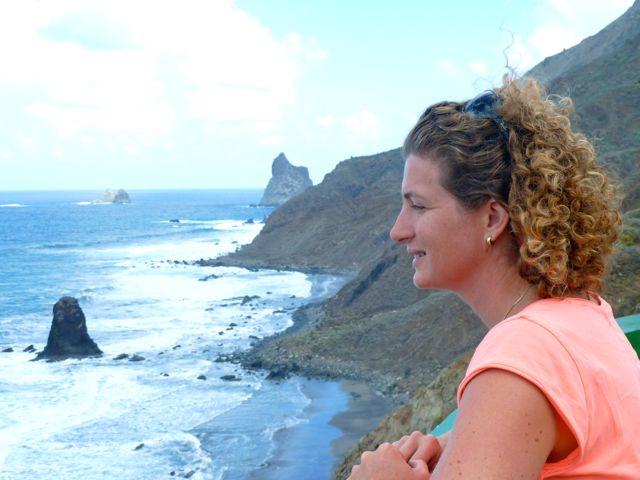 Prachtig, uitzicht over de woeste noordkust van Tenerife