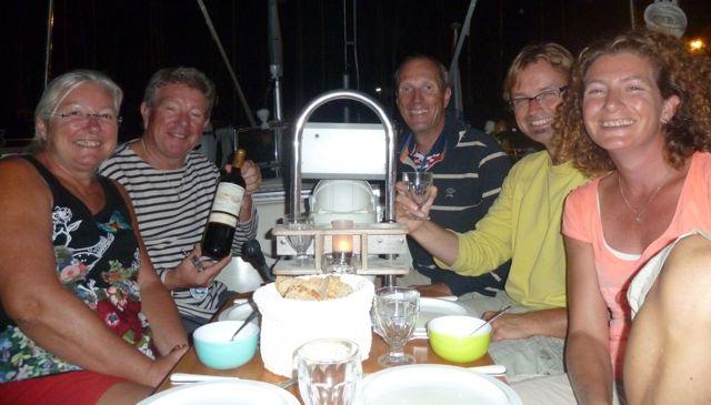 En weer een avond gezelligheid met de franse buren van de Skreo.