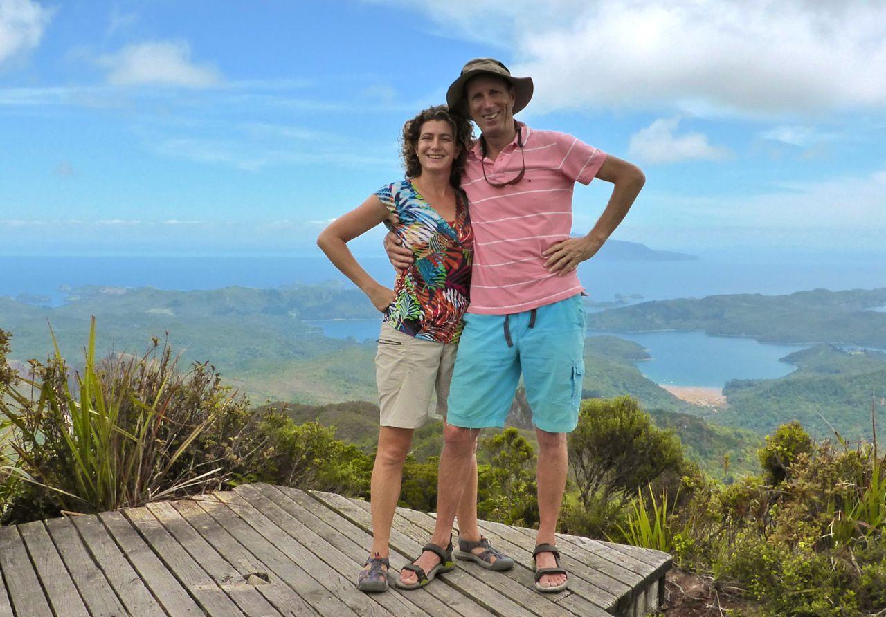 onze O&N foto boven op Mount Hobson