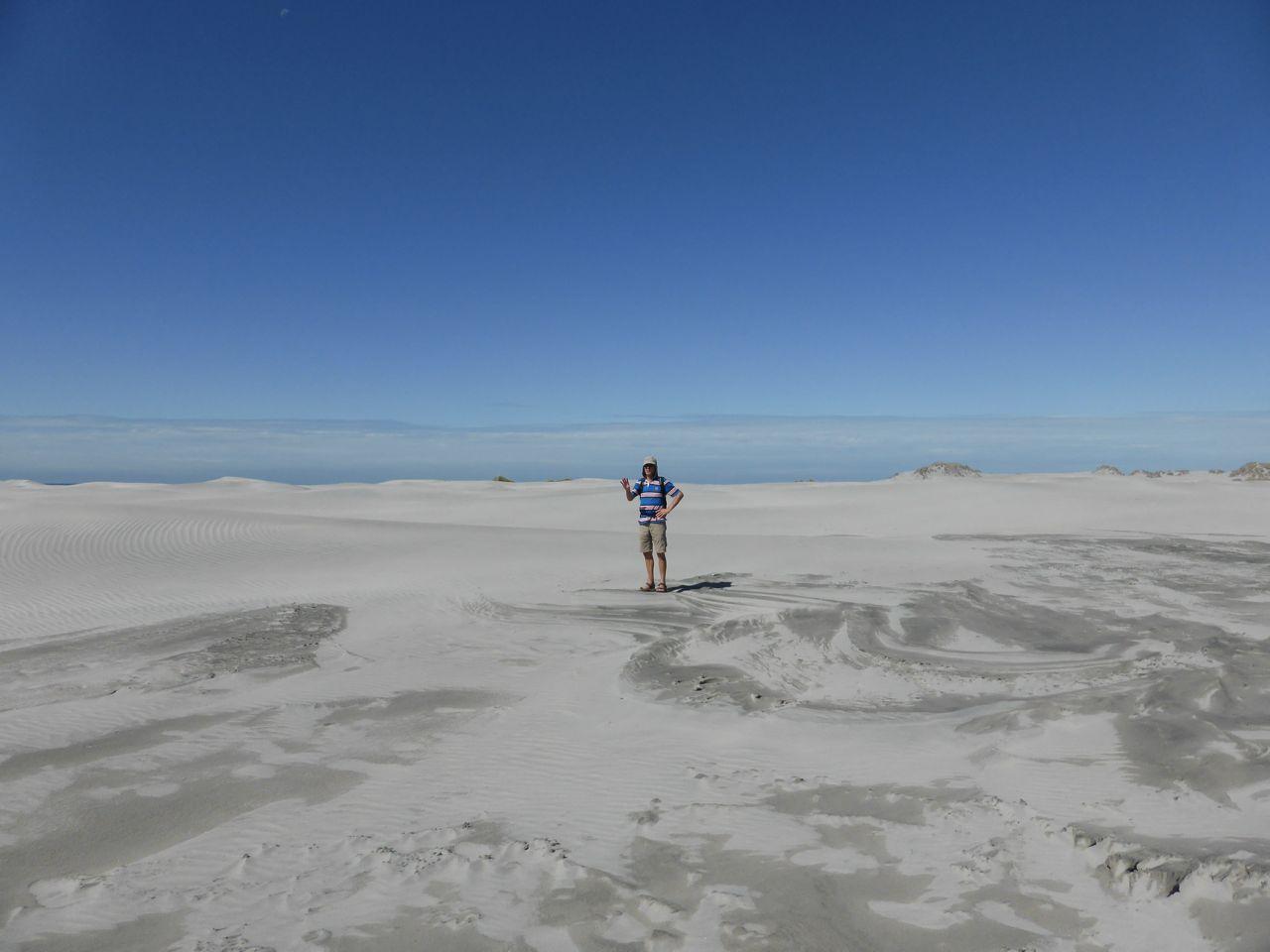 De zandduinen van de Farewellspit