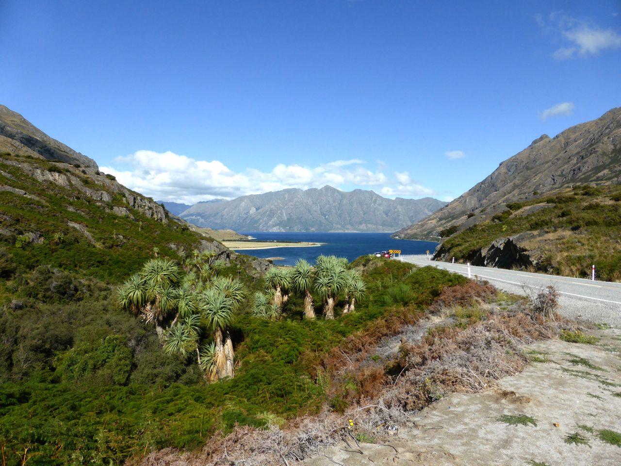 Het blauwe lake Wanaka