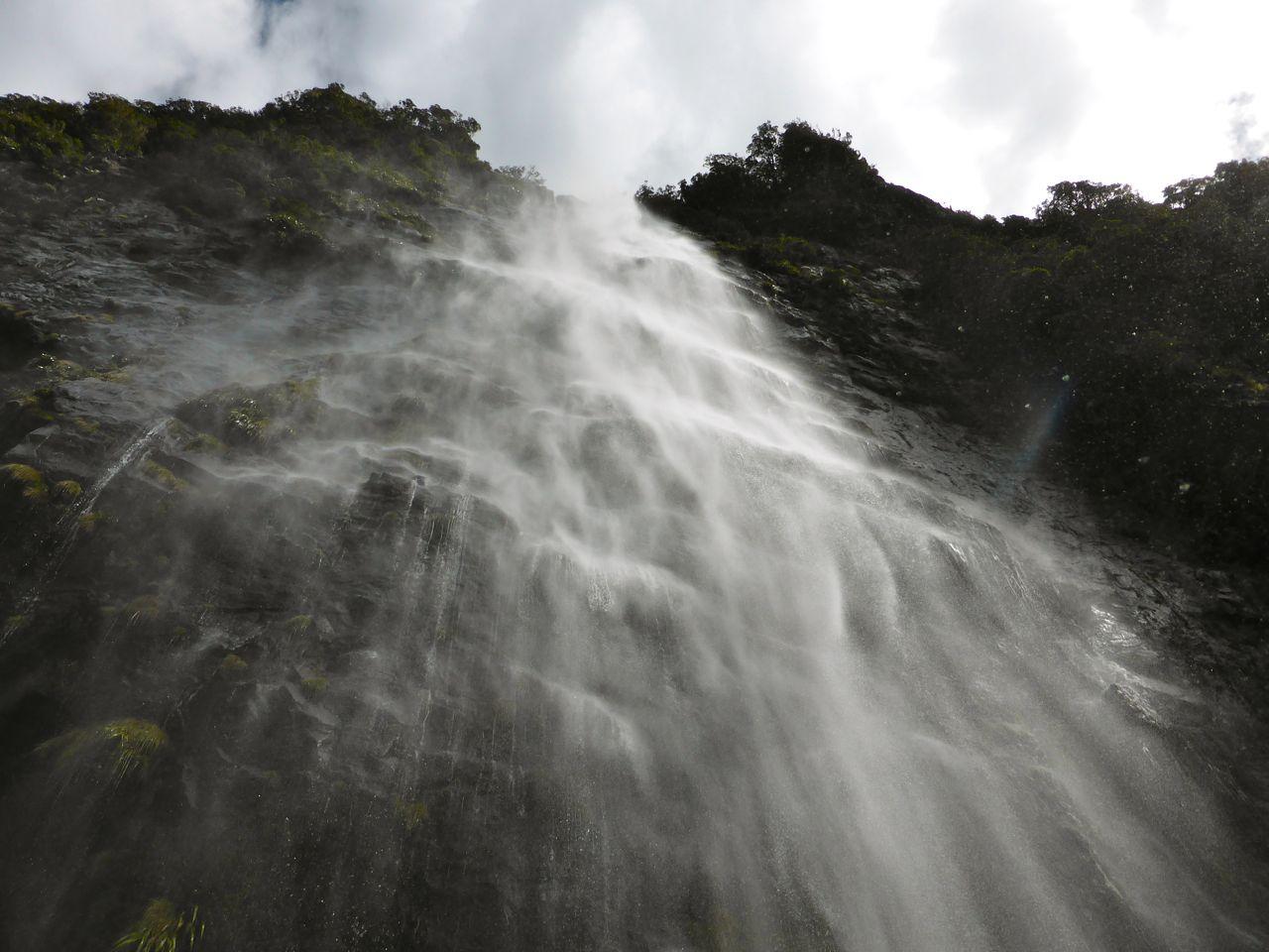 met talloze watervallen