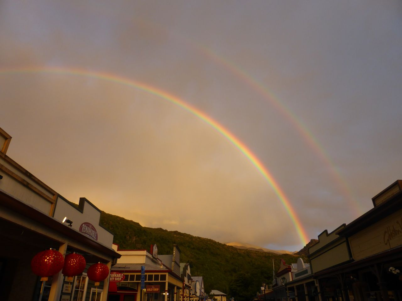 Regenbogen in Arrowtown