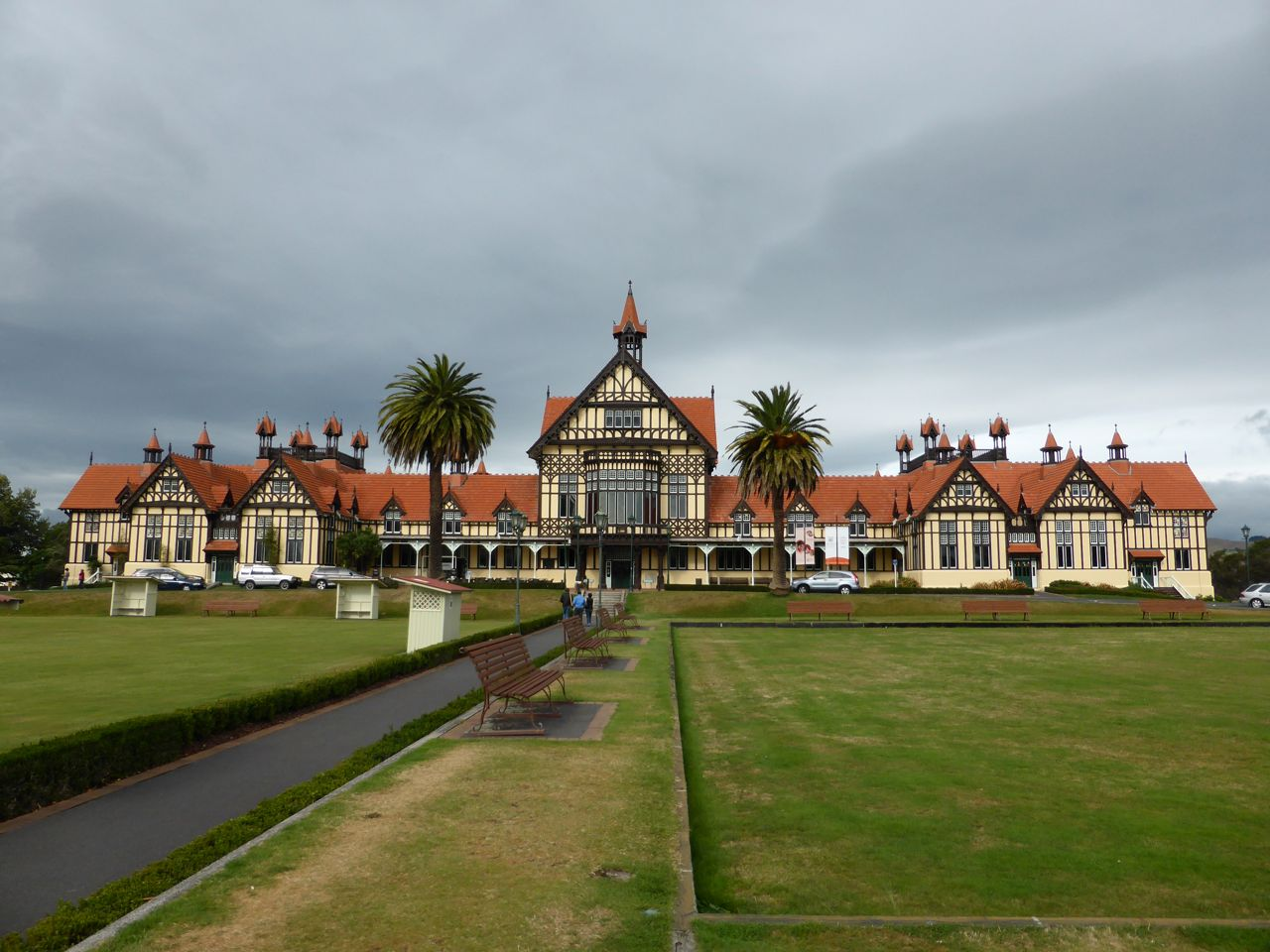 Het oude badhuis van Rotorua