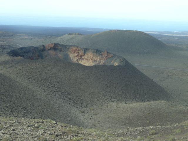Een krater in het landschap