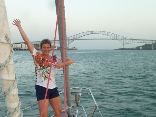Hoera, voor de eerste keer op the pacific, weliswaar op een ander schip, maar toch!