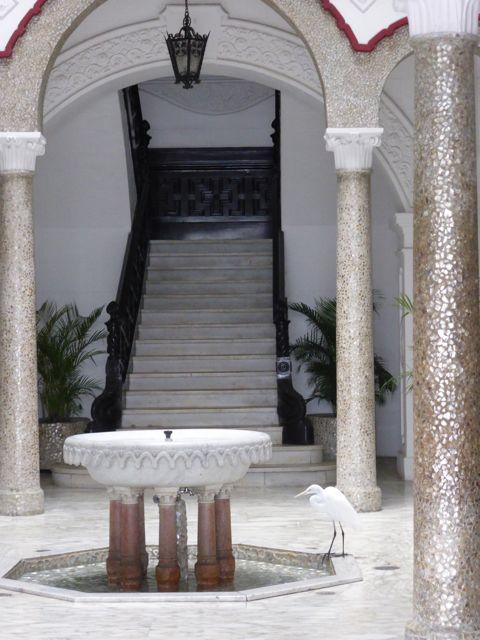 een glimp van het interieur