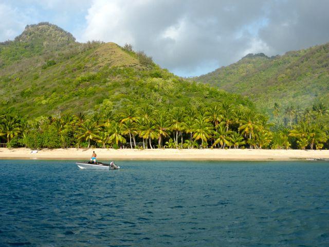 Tahuata bay, een prachtige ankerplek zonder swell