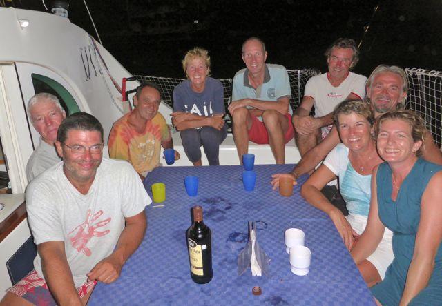 Twee gezellige avonden gehad met vijf Italianen en 2 Fransozen