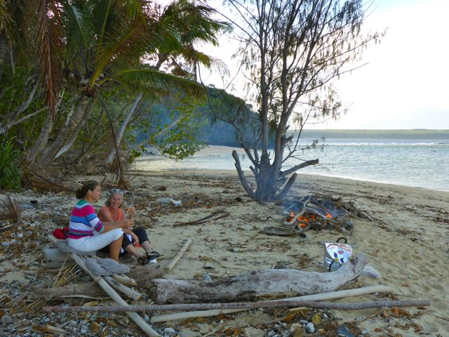 Barbecue op het strand met Bruce en Jill samen