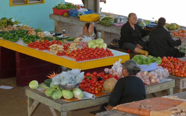 De lokale markt is een feest voor het oog